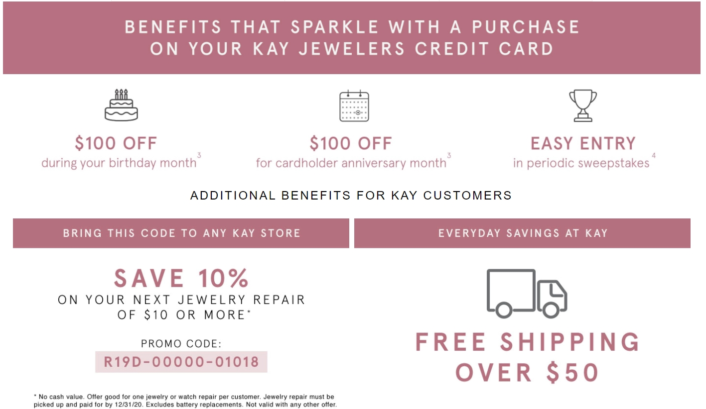 ADDITIONAL BENEFITS FOR KAY CUSTOMERS