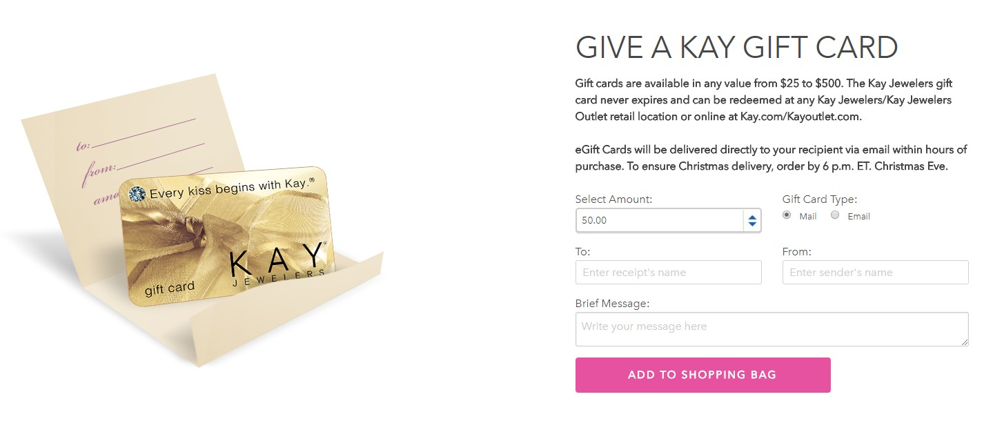 GIVE A KAY GIFT CARD