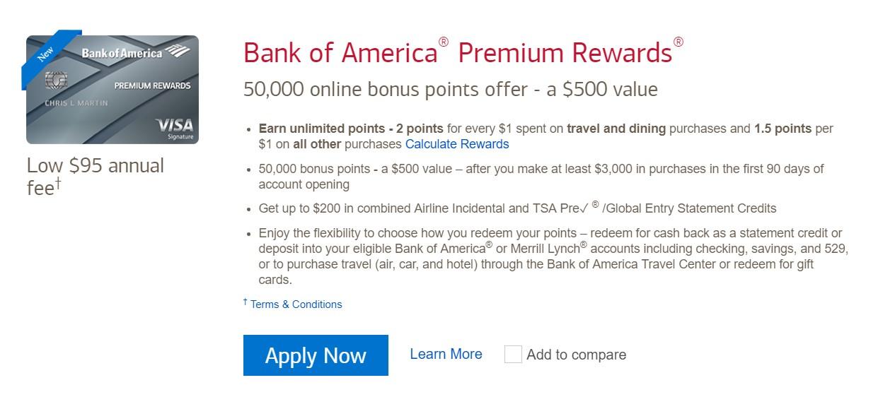 Bank of America® Premium Rewards