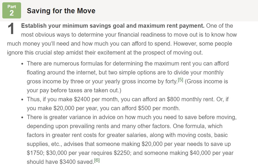 How much money should i save to move out
