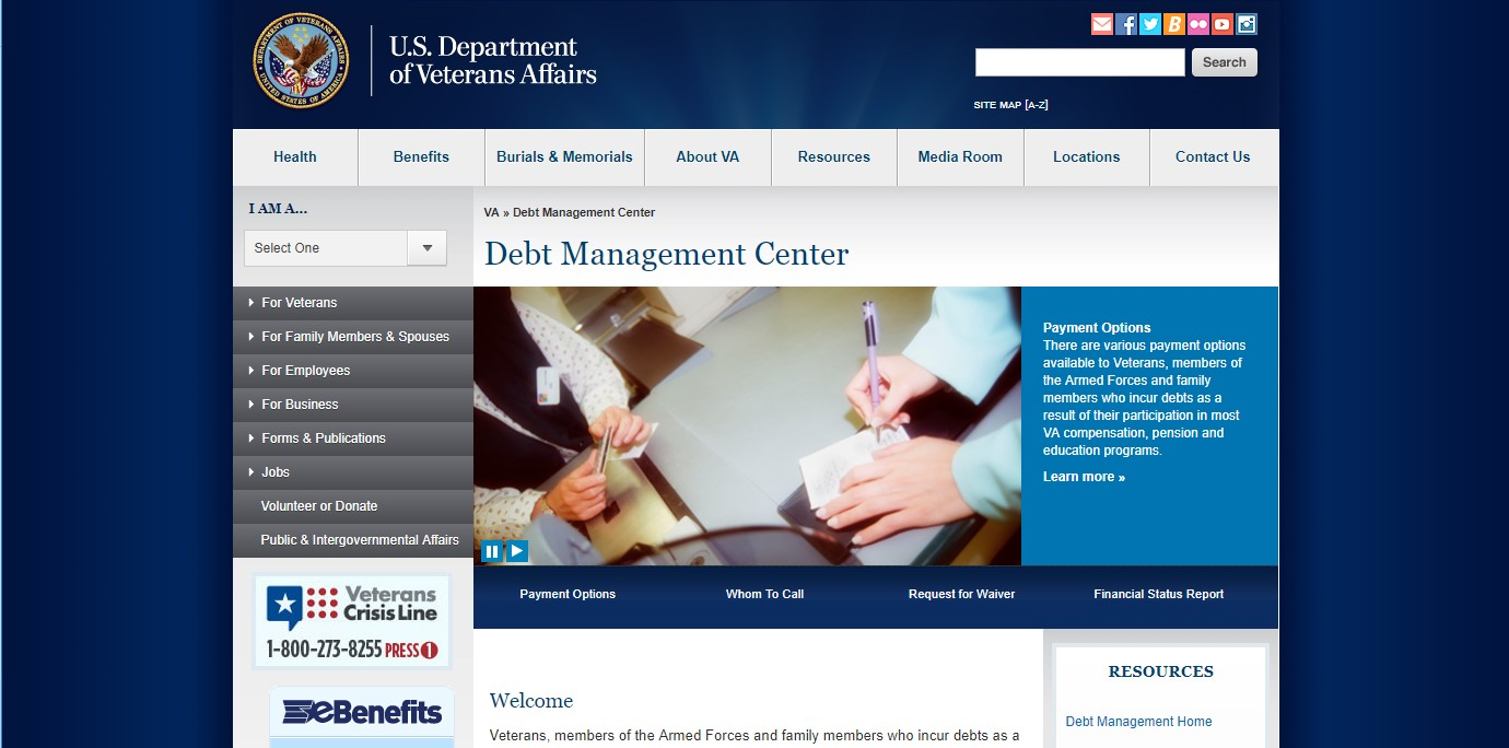Veterans Affairs Debt Management Center
