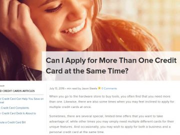 is it bad to apply for multiple credit cards