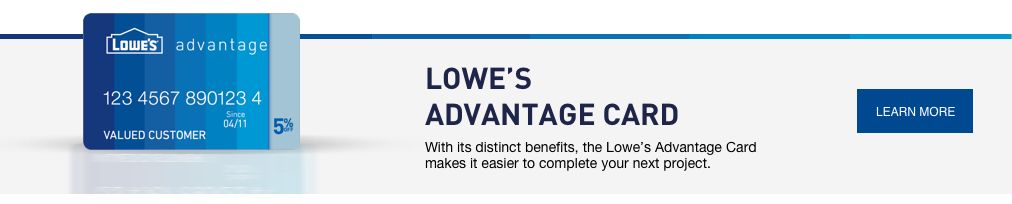 Lowe's Credit Center lowes advantage card