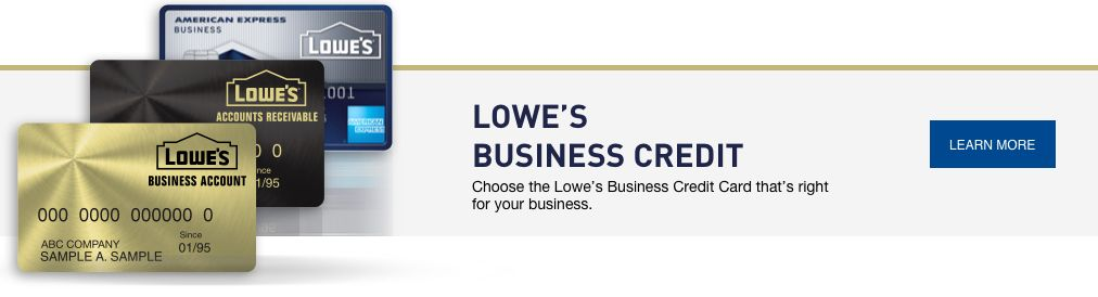 Lowe's Credit Center lowes business credit