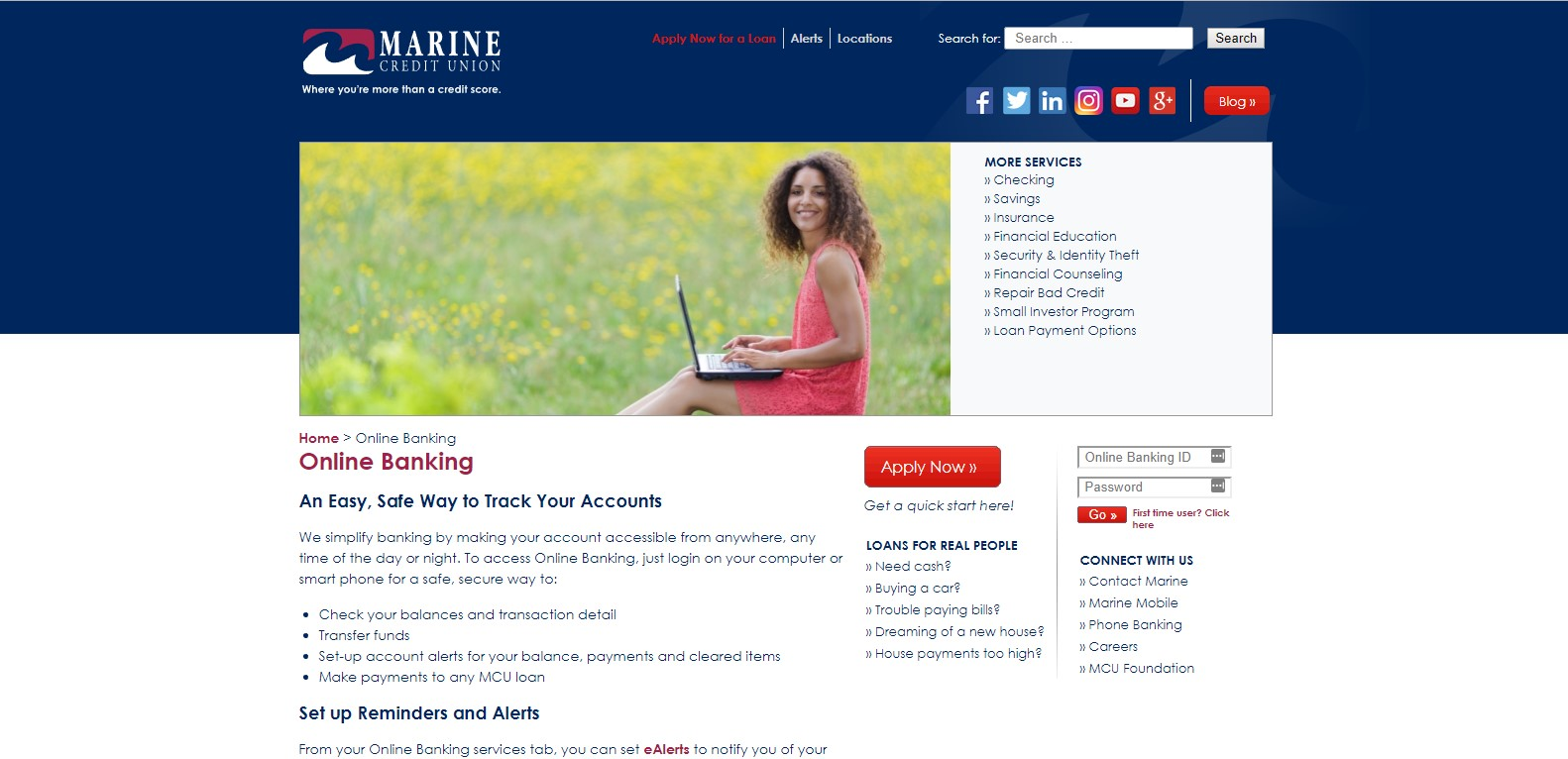 marine credit union online banking